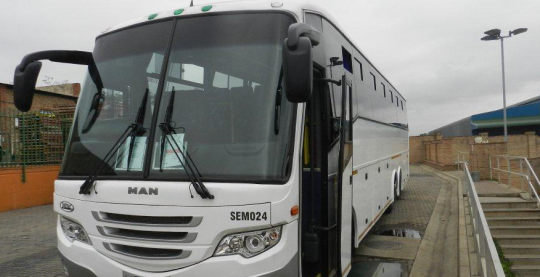 Bus Hire Companies in Cape Town have great fleets of 60 seaters like this one