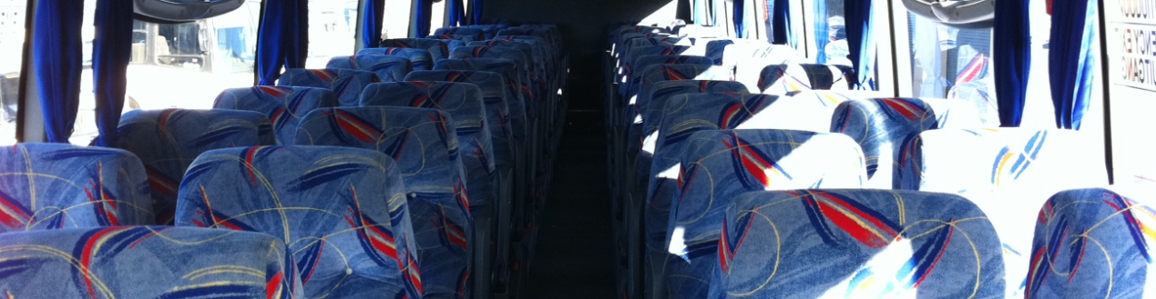 Luxury Bus Hire Option Interior With Reclining Seats