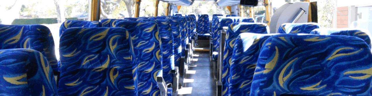 Luxurious Blue Touring Coach Interior