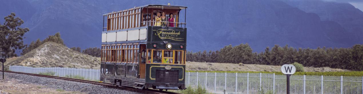 Passengers on Franschhoek Wine Tram