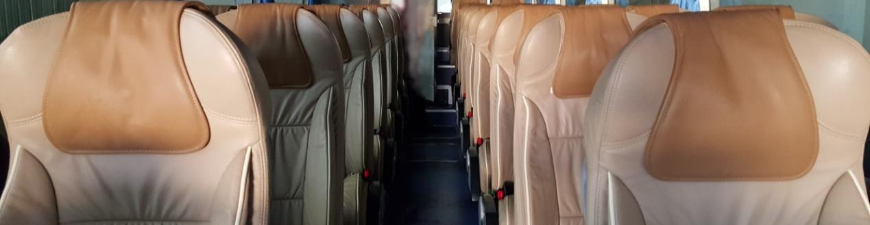 32 Seater Yutong R9 Luxury Coach Interior